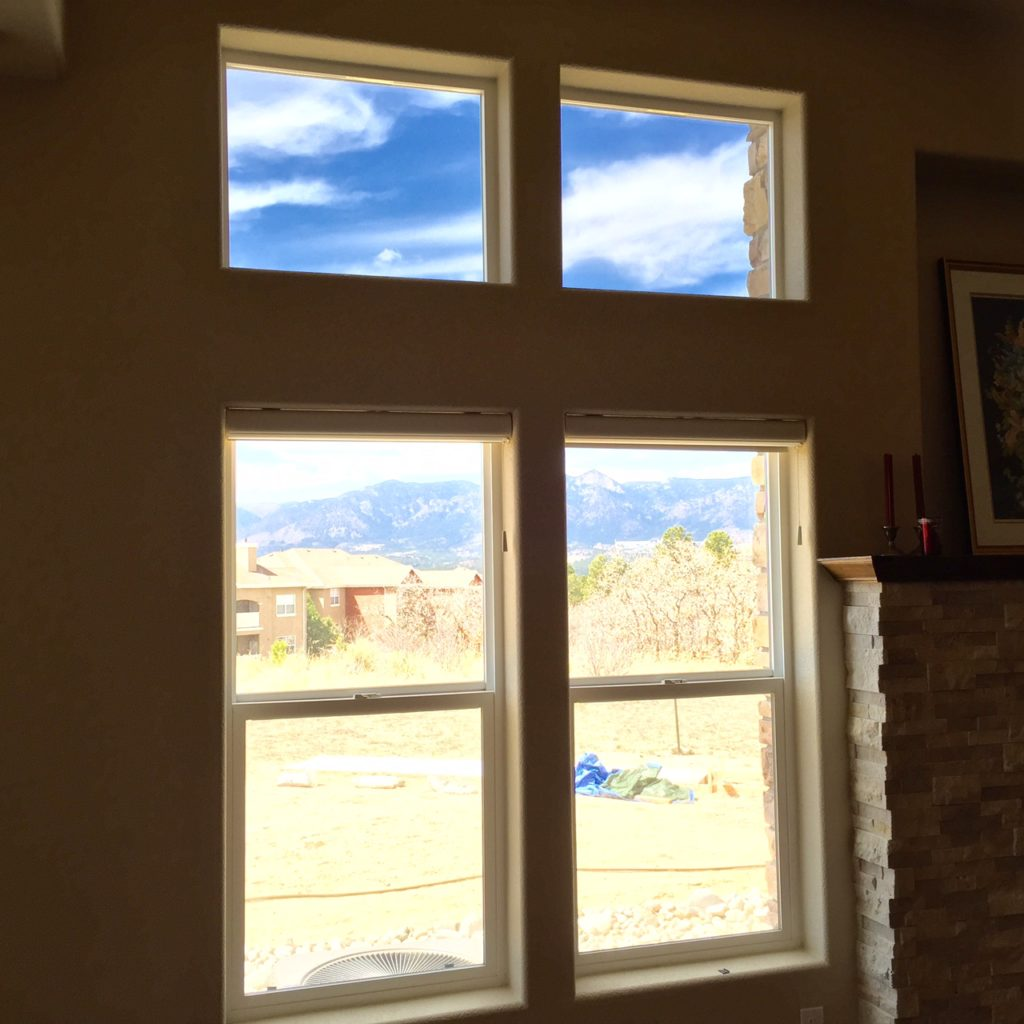 Residential window tint installation for glare reduction for Residential window replacement